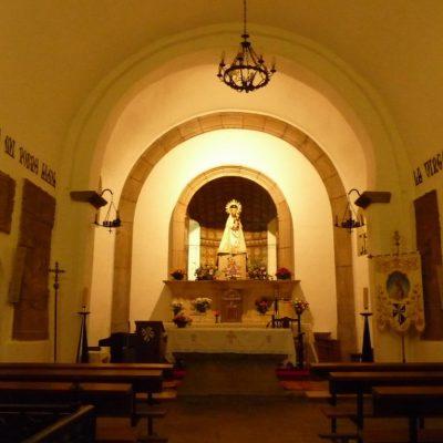 interior santuario peña de francia